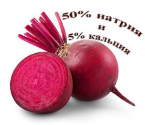 50% натрия и 5% кальция