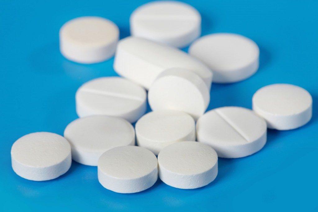 Стандартные таблетки белого цвета