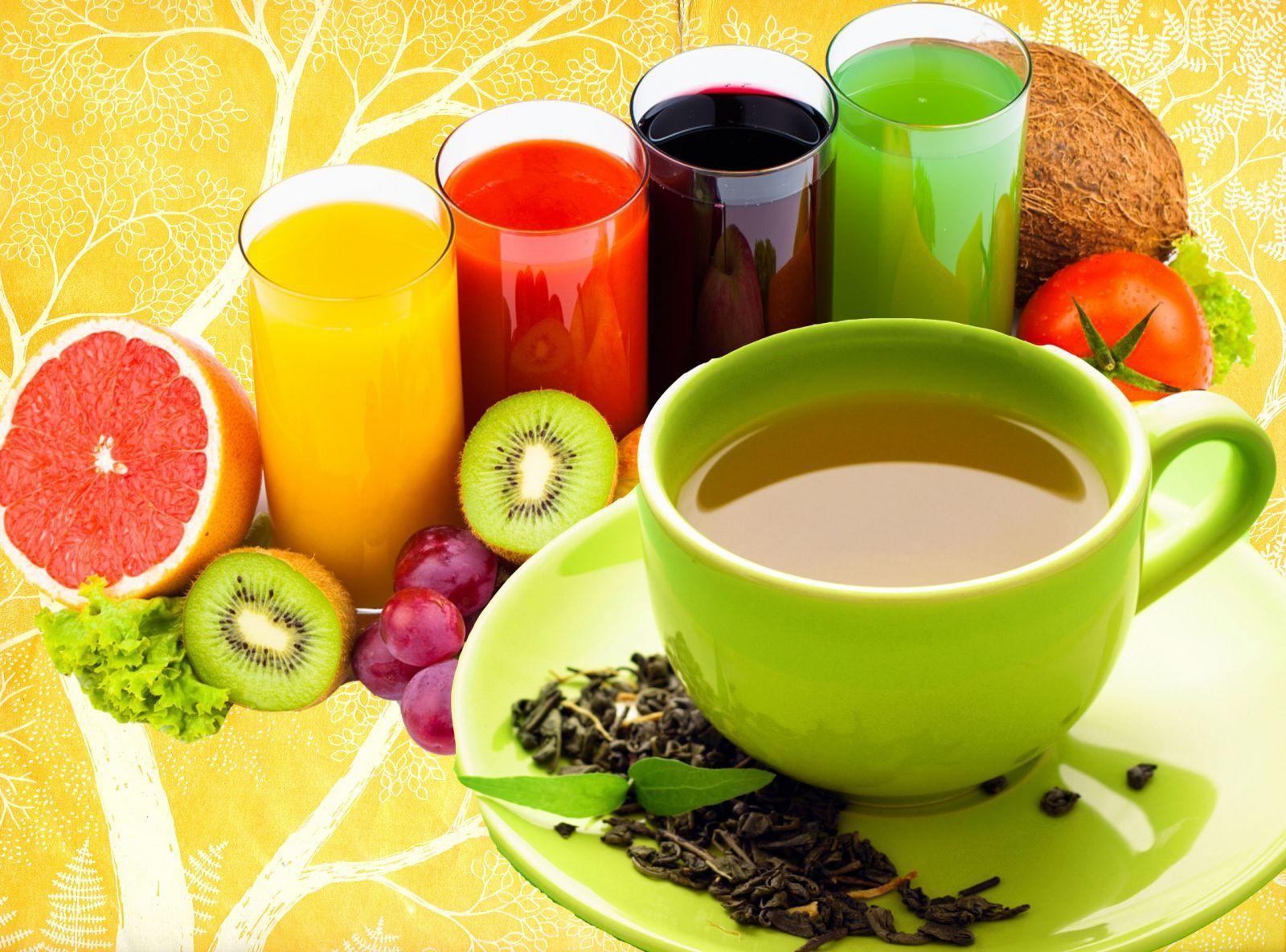 Чай, соки или другие полезные напитки