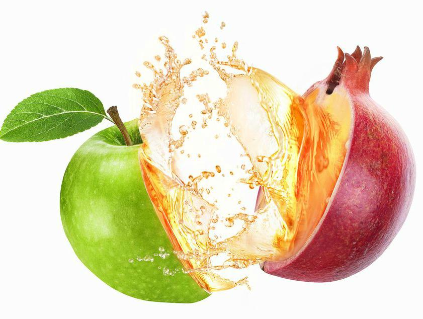 Гранат, яблоко