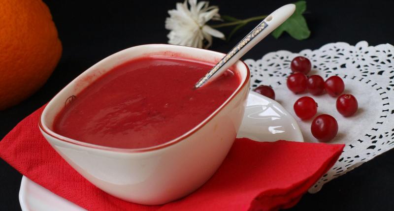 Кислое ягодное пюре