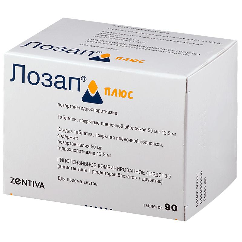 Лозап плюс №90 таблетки: цена, инструкция, отзывы, купить в.