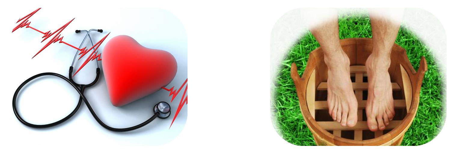 Высокое давление и ванночки для ног